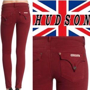 Hudson skinny collin jean in red 28, EUC